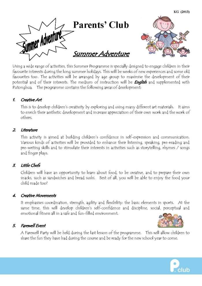 KG leaflet summer programme_Page_1